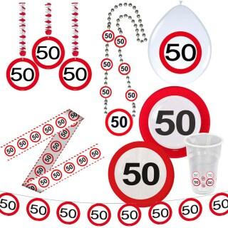 50 Geburtstag Verkehrsschild Party Deko Erwachsene Geburtstagsdeko