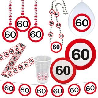 60 Geburtstag Verkehrsschild Party Deko Erwachsene Geburtstagsdeko