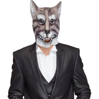 Gummi Maske Wolf Wolfsmaske Wolfmaske Tiermaske Masken 15 99