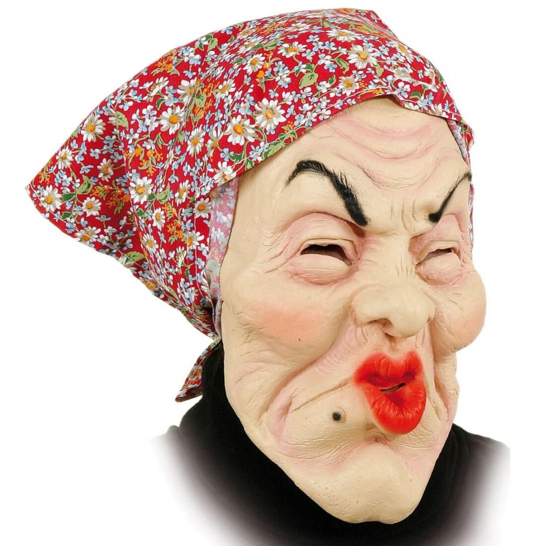 Gummi Maske Alte Frau Oma Masken Kostum Zubehor 9 99