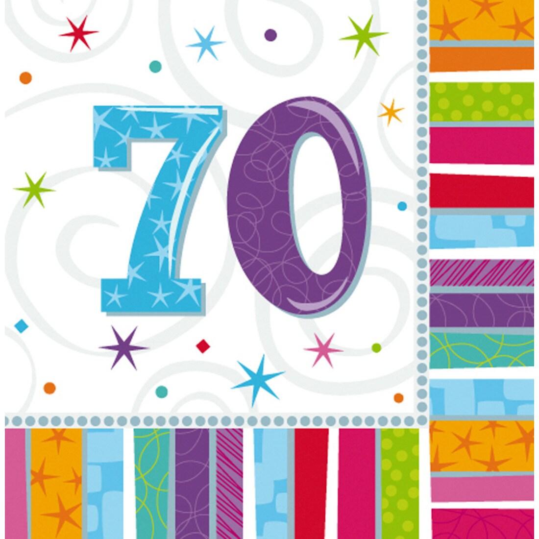 16 geburtstagsservietten papier servietten 70 geburtstag 3 49. Black Bedroom Furniture Sets. Home Design Ideas