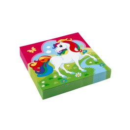 20 Einhorn Servietten 33 x 33 cm Unicorn Party Deko...