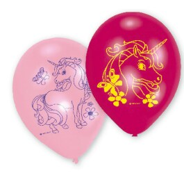 6 Einhorn Latexballons 22,8 cm Unicorn Party Deko...