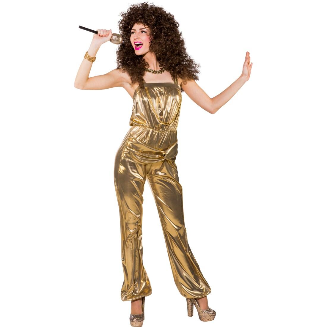 jumpsuit gold disco overall damen 31 99. Black Bedroom Furniture Sets. Home Design Ideas