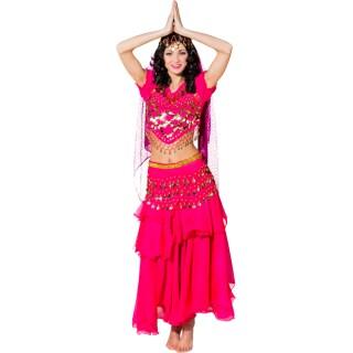 1001 Nacht Kostum Orientalisches Bauchtanzkostum Pink 39 95