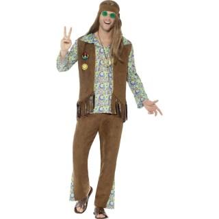 Hippie Outfit Herren Flower Power Kostüm Mann 3399