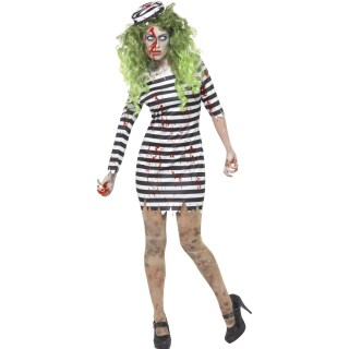 halloween kostum zombie straflingskostum damen