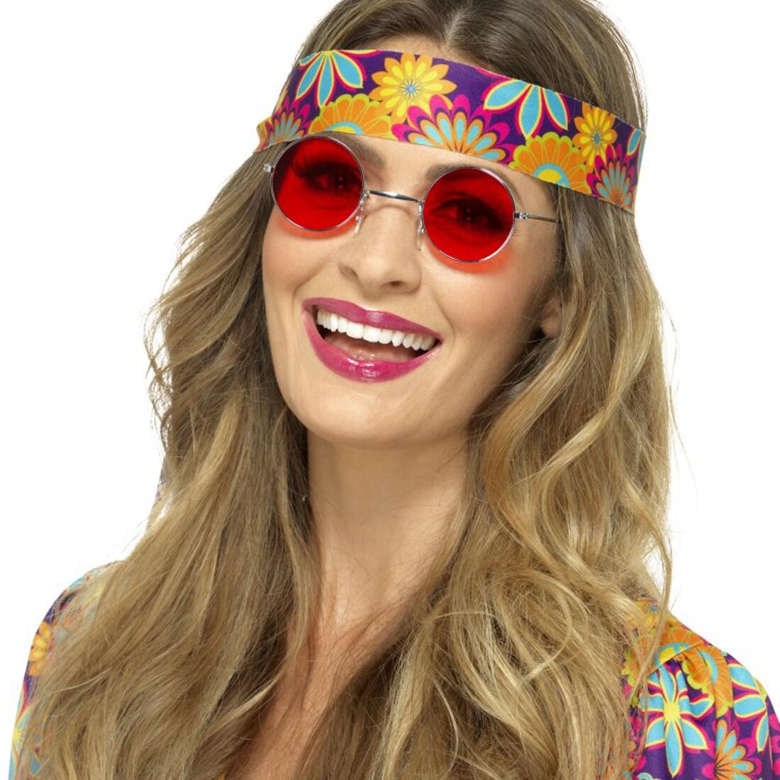 Lennonbrille 70er 80er Jahre Party Schlagerparty Hippie Hippieperücke John