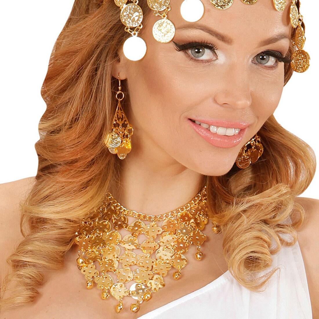 Orientalischer Schmuck Bollywood Schmuckset Mit Ohrringen Und