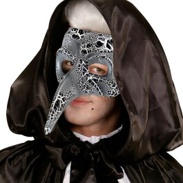 Venezianische Schnabelmaske  Pestmaske Phantom Crackle-Optik