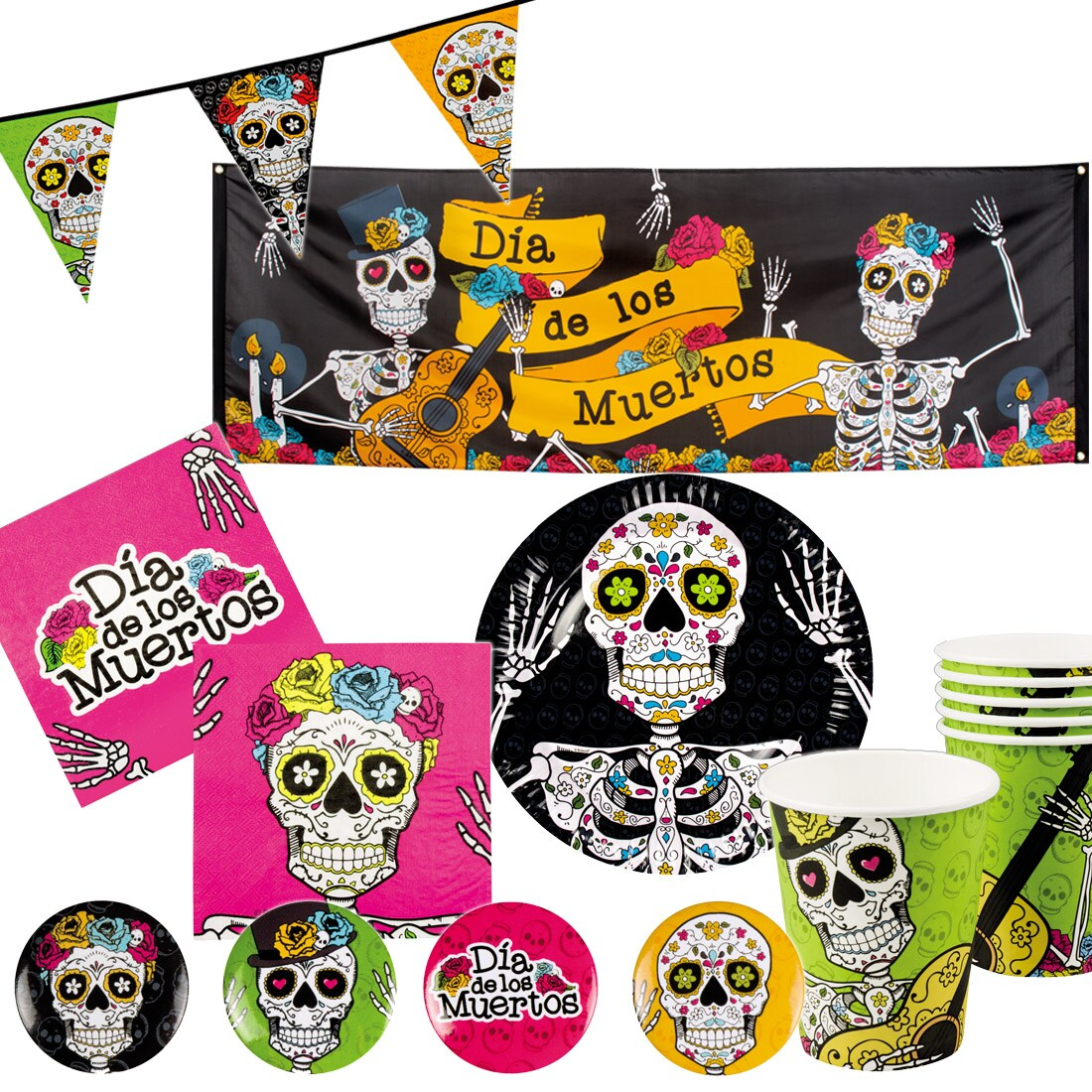 totenkopf deko sugar skull halloween dekoration tag der toten 4 99. Black Bedroom Furniture Sets. Home Design Ideas