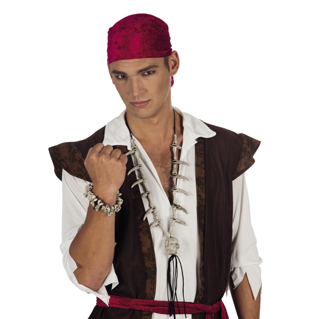 Knochen und Schädel Armkette Totenkopf Skull Armband Halloween Schmuck Karneval