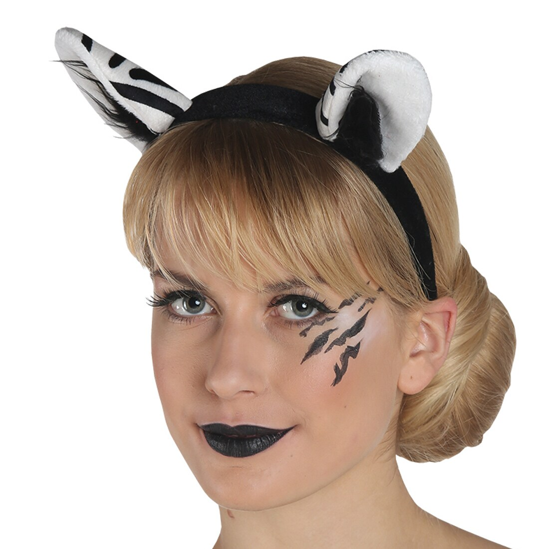 Zebra Ohren Haarreif Fur Frauen Weiss Schwarz 5 95