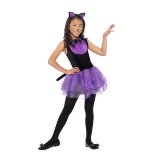 Süßes Kinder Kostüm Katze Schwarz Violett 2049