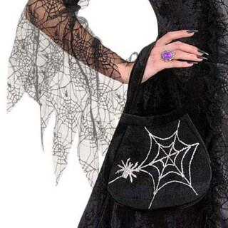 Hexen-Handtasche mit Spinnennetzen