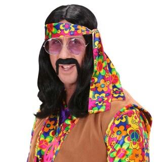 Hippie Herren Perucke Schwarz Dude Hippieperucke 13 99