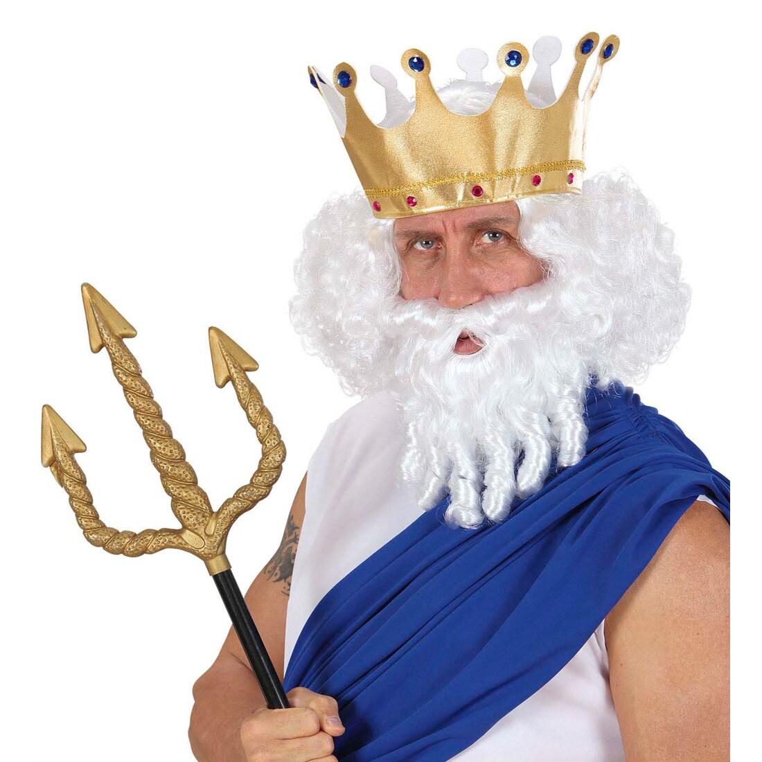 Zeus Perucke Konig Neptun Mit Bart Herrenperucke Fasching 15 99