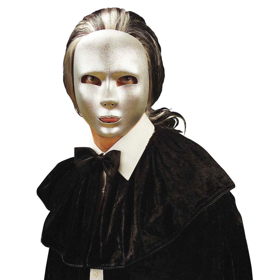 Phantommaske silber Theater Maske Fasching Phantom, 5,99