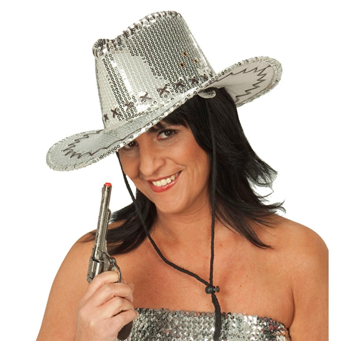 Cowboyhut Pailletten Accessoires Hut Karneval Halloween