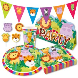 Dschungel Tiere Party-Set