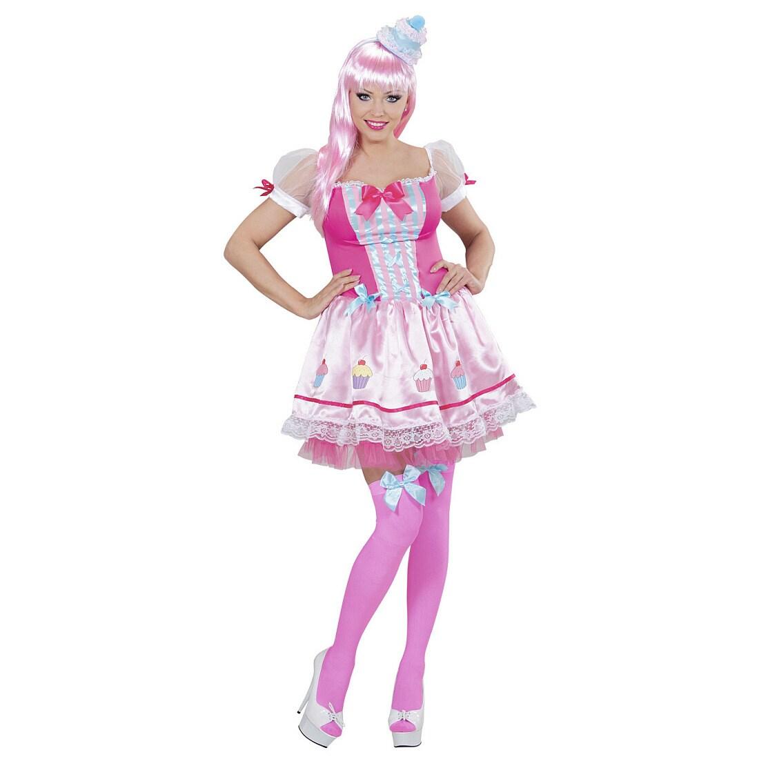 Wunderschönes Cupcake Kostüm für Frauen Pink-Weiß, 29,99