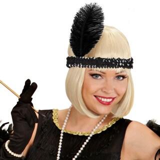 20er Jahre Perücke Burlesque Damenperücke blond Charleston Lockenperücke Retro