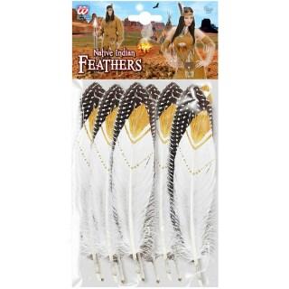 Horror-Shop Schwarze Indianer-H/äuptling Kinderper/ücke mit Stirnband /& Federn
