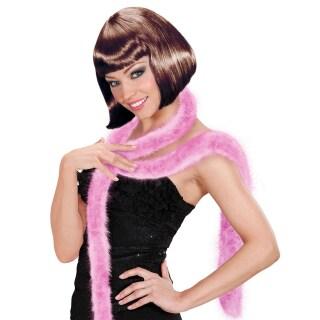 Marabu Boa Federschal weiß 2 m Federboa Mafia Schal Federstola Charleston Kostüm