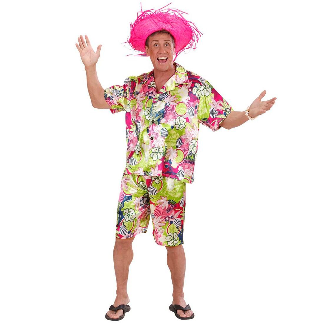 Hawaii-Kostüm für Männer mit Hemd & Shorts S (48), 27,99