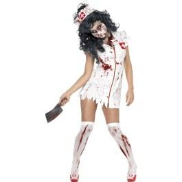 Zombie Cheerleader Kostüm Horrorkostüm Halloween Outfit rot schwarz M 40//42
