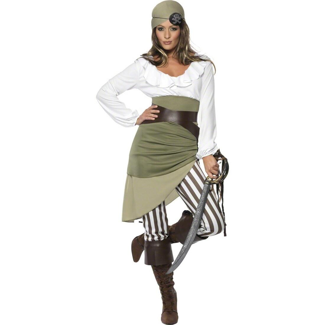 32-46 2-teilig Piratenkostüm Pirat Karneval 11 30731SMY Piratin Damen Kostüm Gr