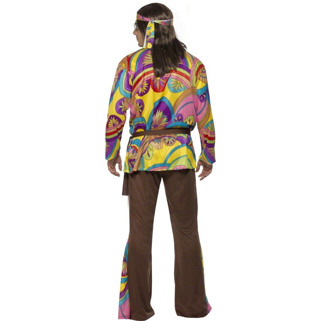 Hippie Kostum Herren L 52 54 Hippiekostum Flower Power Verkleidung