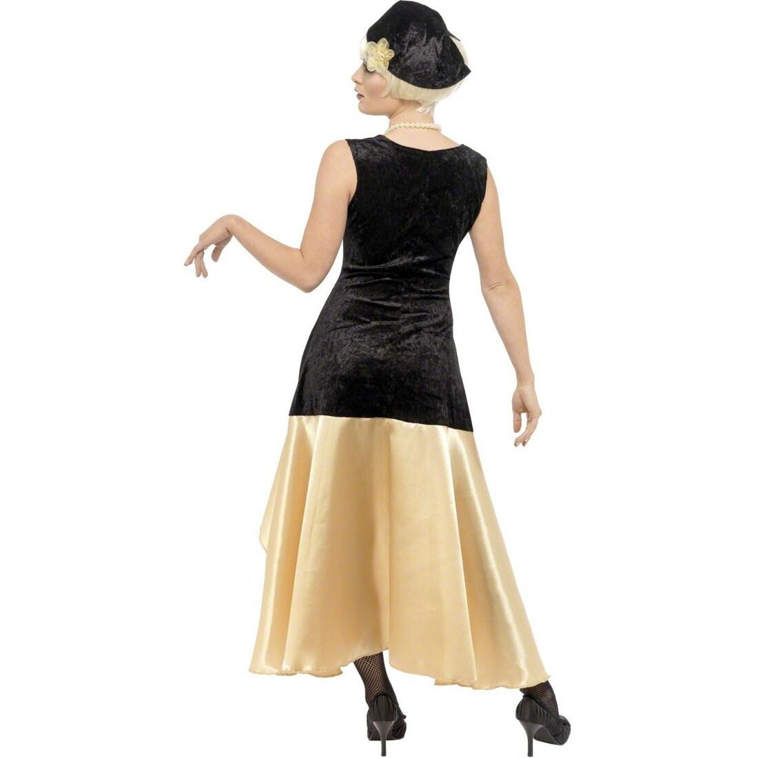 20er Jahre Gatsby Kostum Charlestonkostum Gold Schwarz M 40 42 Damenk 43 99