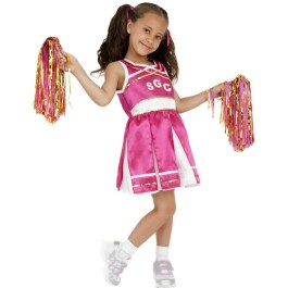 Kinder Cheerleader Kostüm Cheerleaderkostüm pink S 128 cm