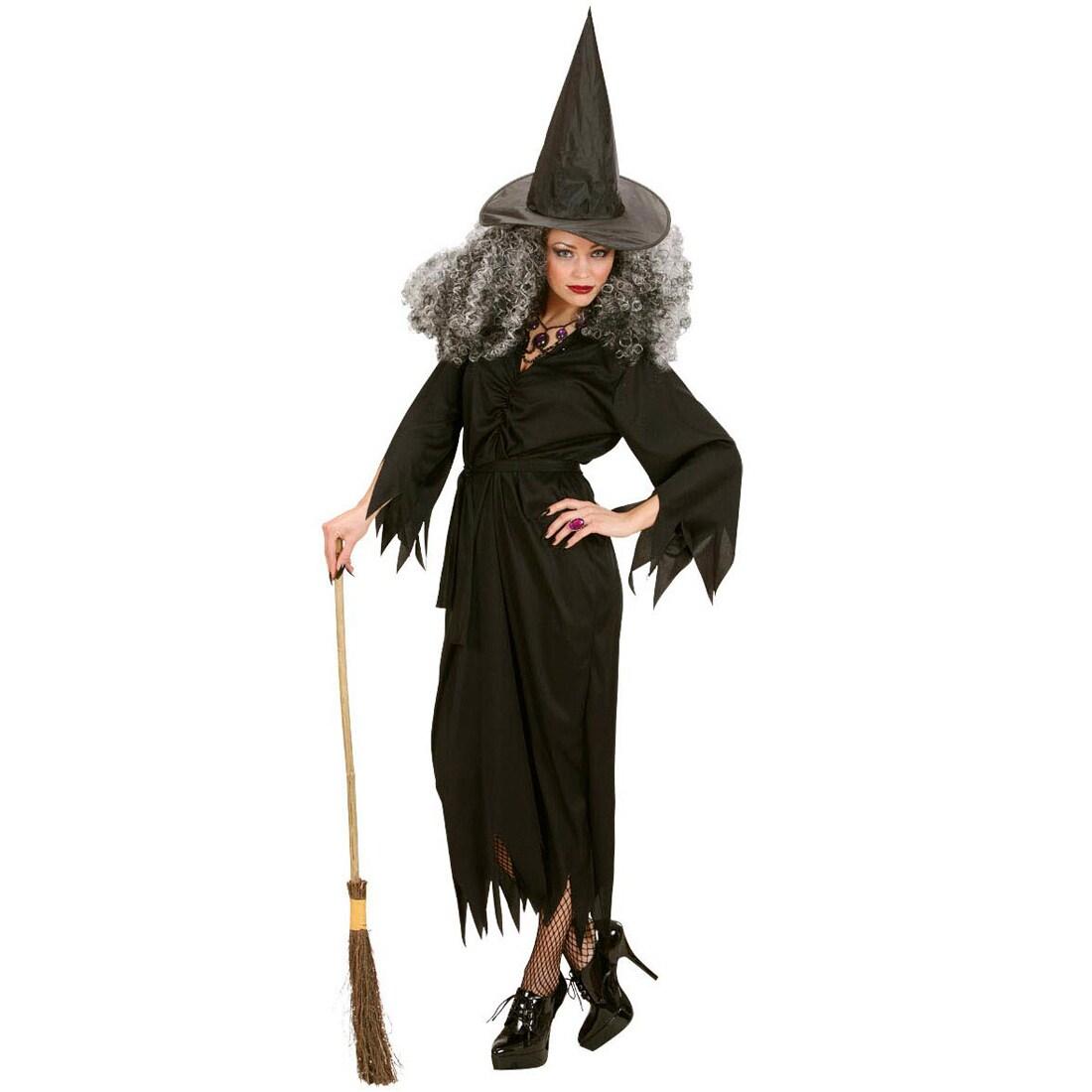 Kraushaar Hexenperücke Hexen Perücke Hexe Halloween Damen Vampirperücke schwarz