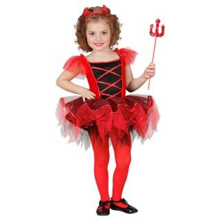 Kinder Teufel Kostum Ballerina Teufelkostum Rot Xs 110cm 3 4 Jahre