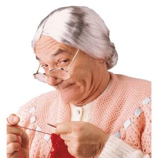 Tante Mary Zopf Perucke Hexe Oma Alte Frau Hexenperucke Damenperucke