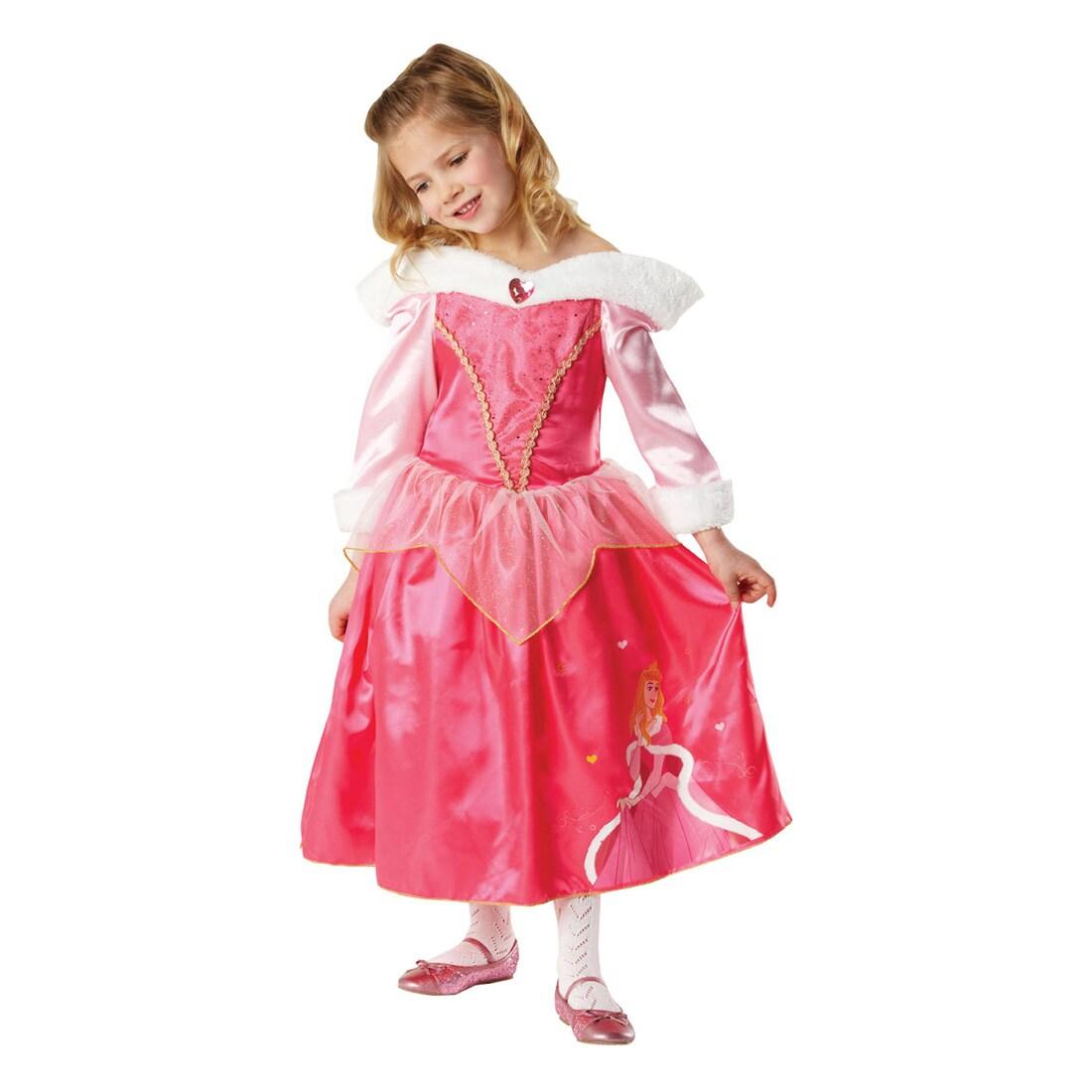 Disney´s Prinzessin Dornröschen Ballkleid Kostüm Krone pink rosa 116-122-128