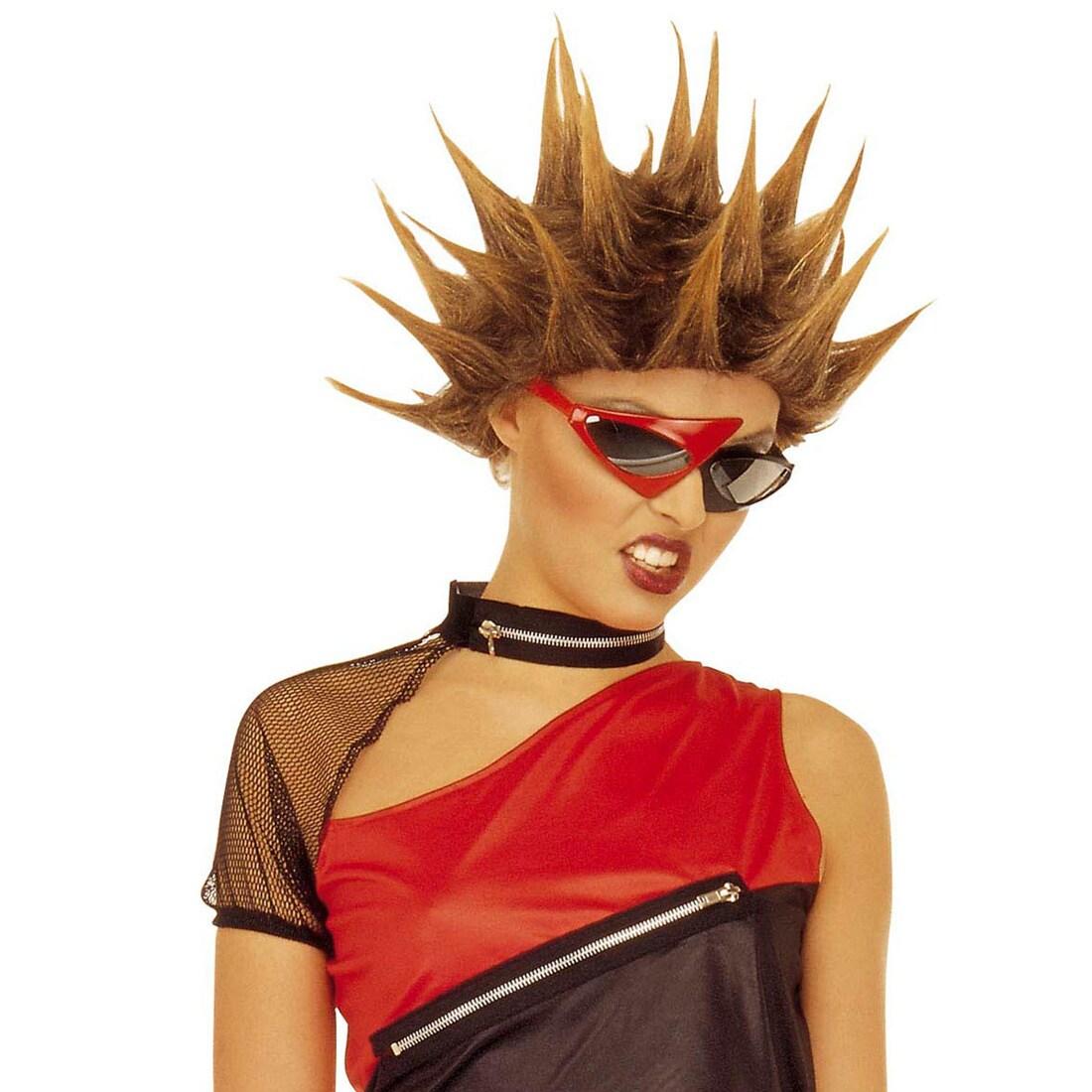 Star Perucke Rocker Blond Punker Karneval 13 99