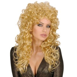 Damen Perücke blond mit Locken - Attractive