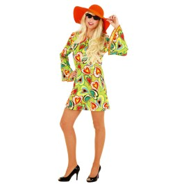 Hippie Kleid Love Flower Power Kostüm Hippi 42