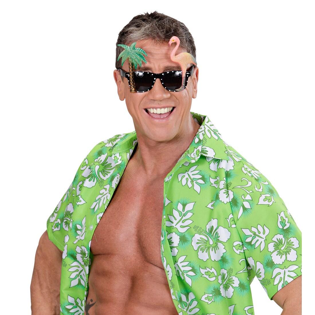 Flamingo Brille Damen Spaßbrille Beach Party pink Partybrille Karibik Sommer