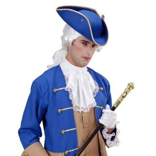 Kapitan Dreispitz Hut Piratenhut Blau Jack Sparrow Filzhut Uniform