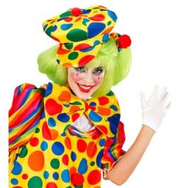 Kurze rote Handschuhe Clownhandschuhe Fingerhandschuhe Clown Kostüm Biesen rot