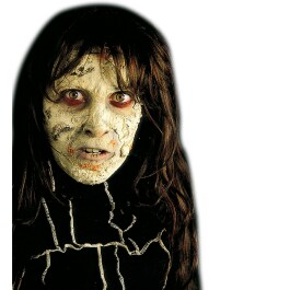 Zombie Haut Make Up Halloween Schminke grau