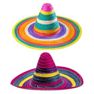 Karneval Fasching Hut Mütze Kopfbedeckung Mexikanischer Bandit Sombrero NEU