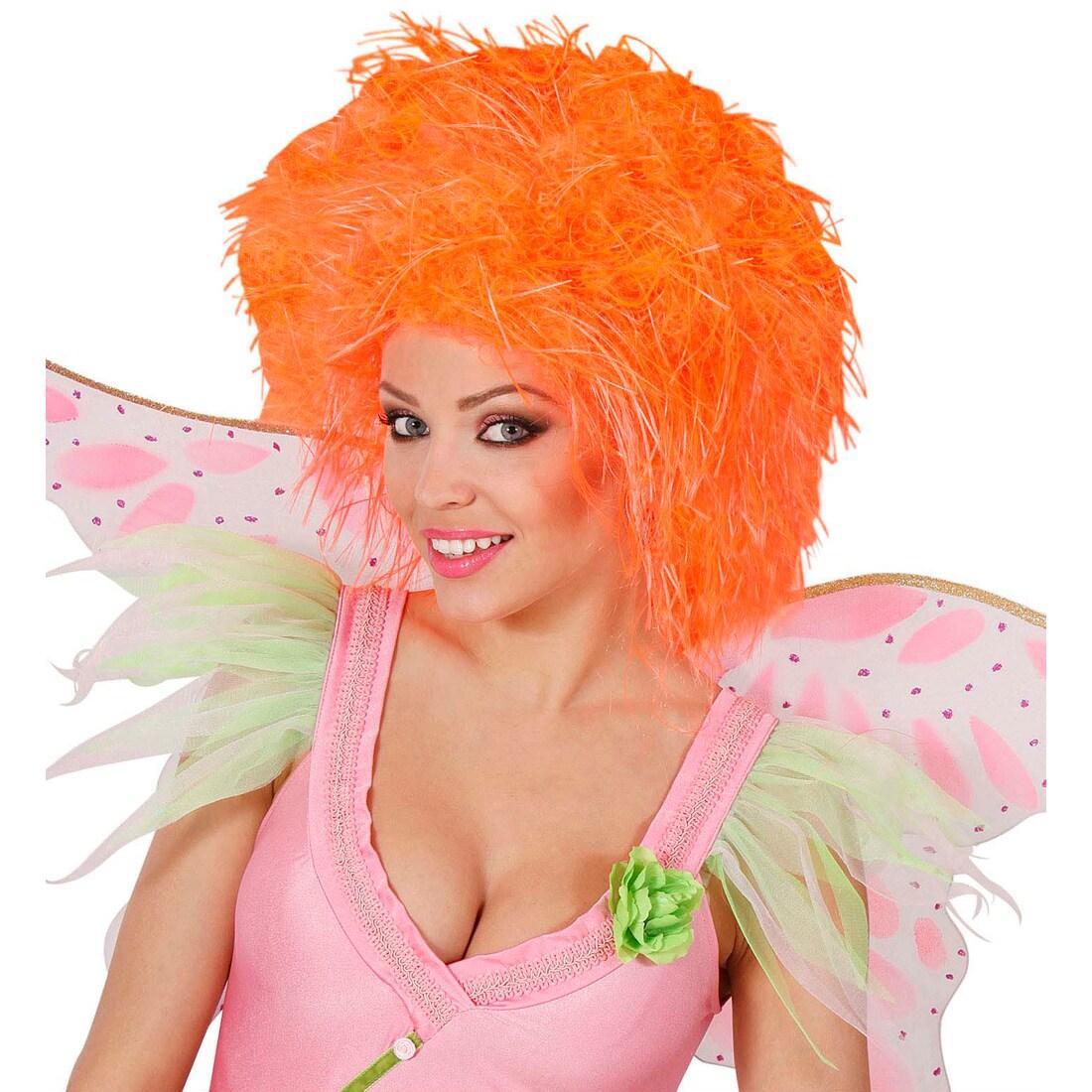 Wuschel Kopf Damenperücke orange Fee Perücke Elfe Faschingsperücke Karneval