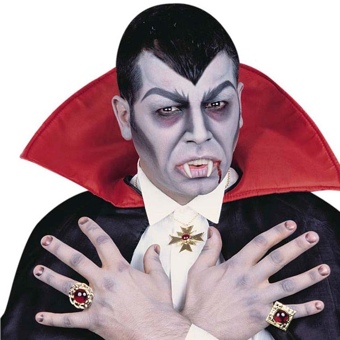 Vampir Schmuck Set Dracula Kette Und Zwei Ringe Gothic