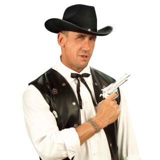 Cowboy Krawatte Western Fliege Schwarz Wilder Westen Schleife 2 99