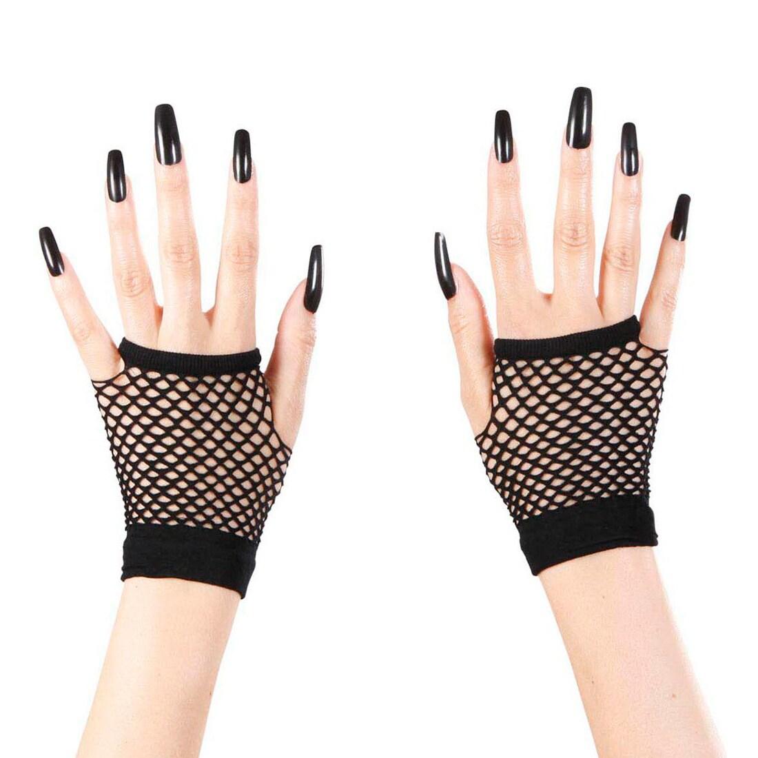 Weiße Fingerlose Spitzen-Handschuhe als Barock /& Rokoko Kostümzubehör